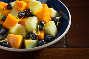 Blueberry-Melon Fruit Salad with Thyme Dressing