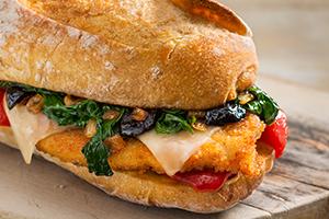 Chicken Cutlet Broccoli Rabe Sandwich