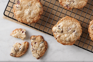 Cranberry and Toasted Sesame Cookies