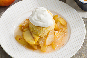 Olive Oil and Cornmeal Stone Fruit Cobbler